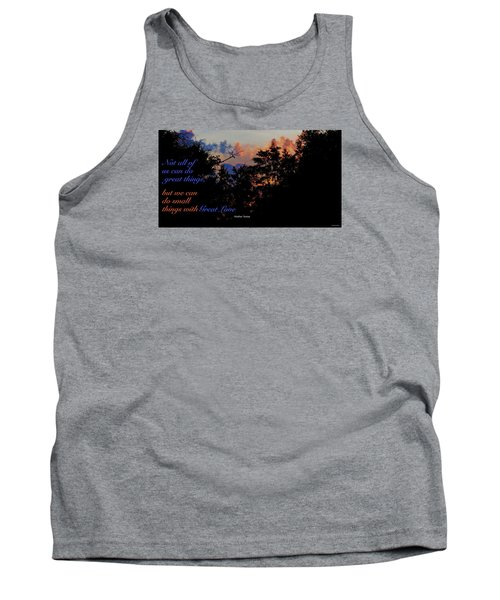 Tank Top featuring the photograph Small Counts by David Norman