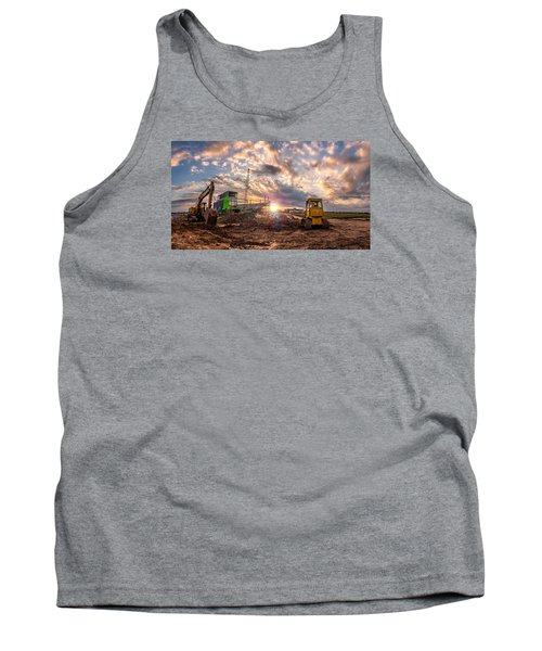 Tank Top featuring the photograph Smart Financial Centre Construction Sunset Sugar Land Texas 11 21 2015 by Micah Goff