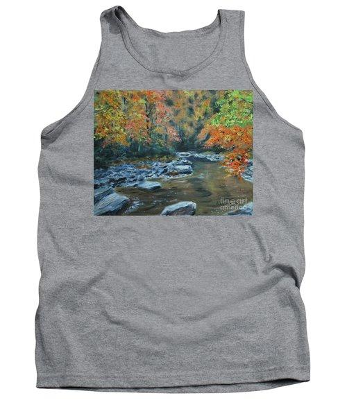 Smokey Mountain Autumn Tank Top by Stanton Allaben