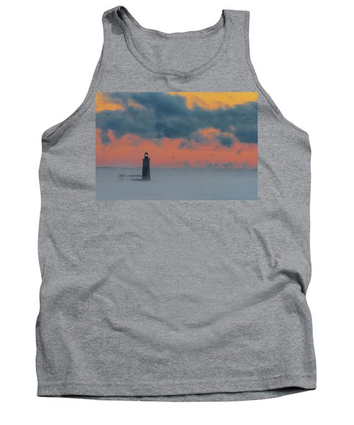Smokey Sunrise At Ram Island Ledge Light Tank Top