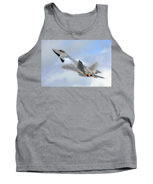 Tank Top featuring the digital art Smokin - F22 Raptor On The Go by Pat Speirs