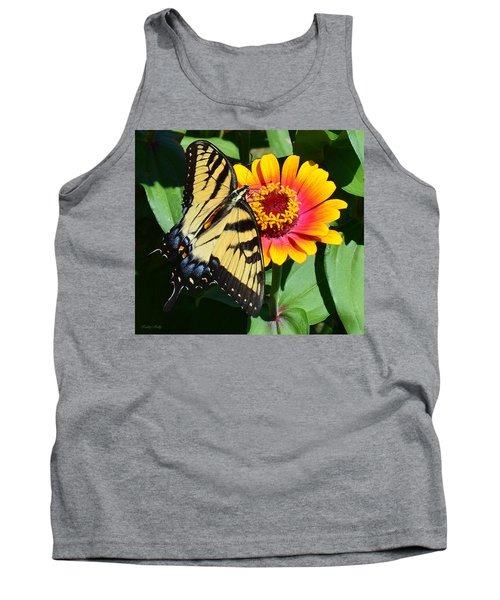 Snacking Tiger Swallowtail Butterfly Tank Top