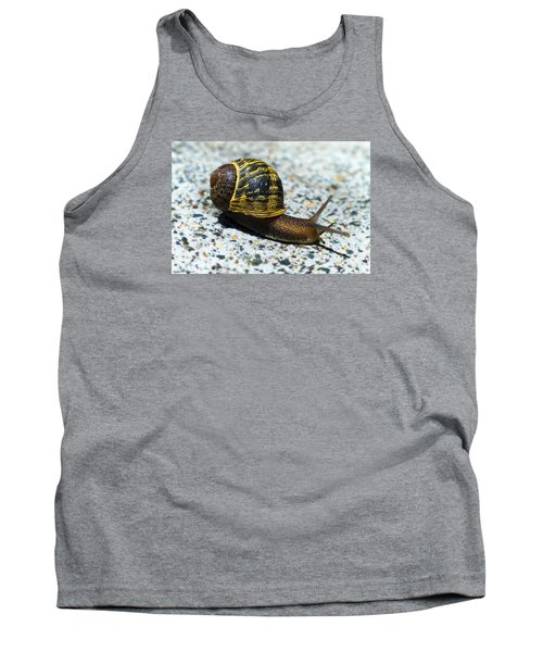 Tank Top featuring the photograph Snailing Alone 01 by Kevin Chippindall
