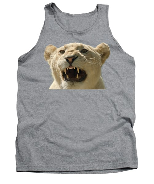 Snarling Lion Tank Top by Scott Carruthers