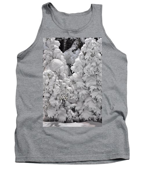 Tank Top featuring the photograph Snow Coat by Alex Grichenko