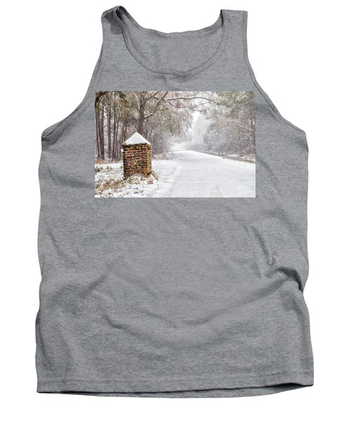 Snow Covered Brick Pillar Tank Top