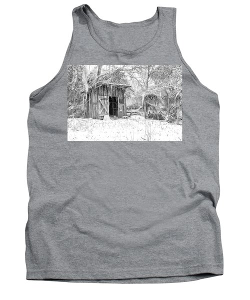 Snow Covered Chicken House Tank Top