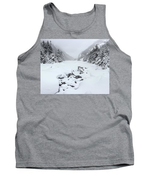 Snow Covered Lake Tank Top