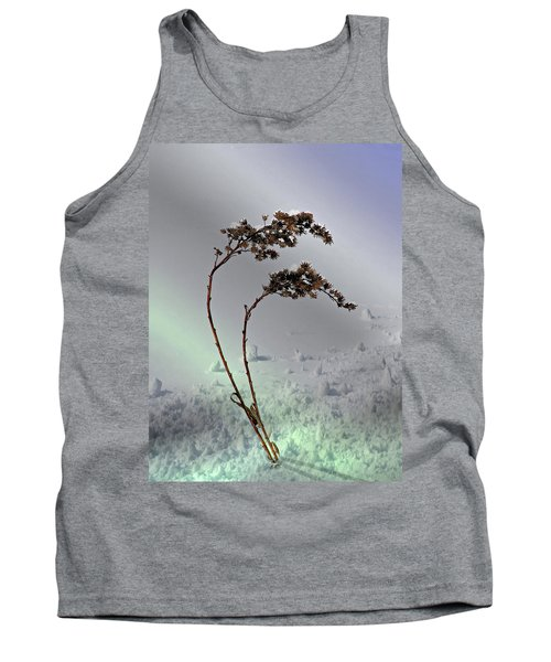 Snow Covered Weeds Tank Top by Judy Johnson