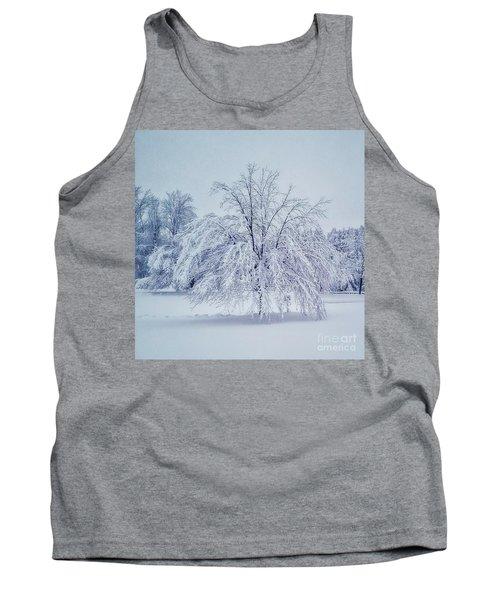 Snow Encrusted Tree Tank Top