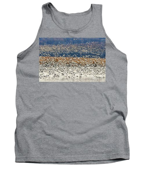 Tank Top featuring the photograph Snow Geese At Willow Point by Lois Bryan