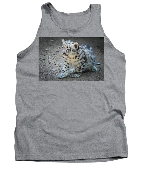 Snow Leopard Cub Tank Top by Terry DeLuco