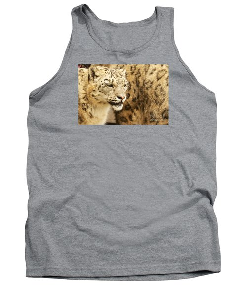 Tank Top featuring the photograph Snow Leopard  by Gary Bridger