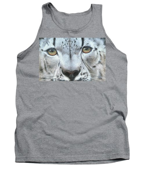 Tank Top featuring the painting Snow Leopard by Mike Brown