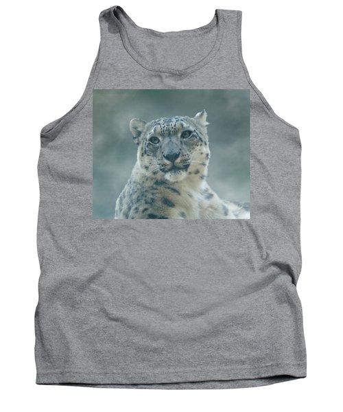 Tank Top featuring the photograph Snow Leopard Portrait by Sandy Keeton
