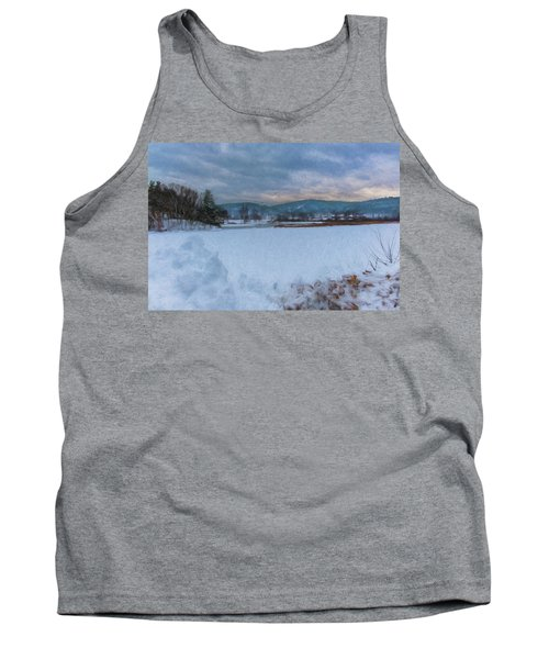 Snow On The West River Tank Top