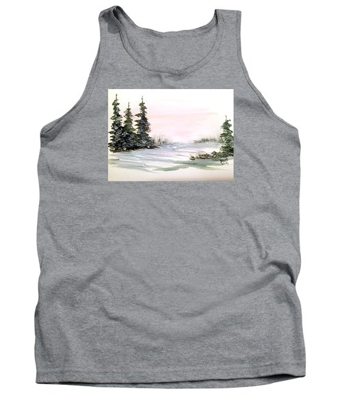 Snow Over The Pasture Tank Top by Dorothy Maier