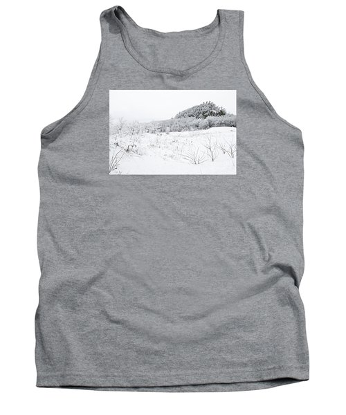 Tank Top featuring the photograph Snow Scene by Larry Ricker