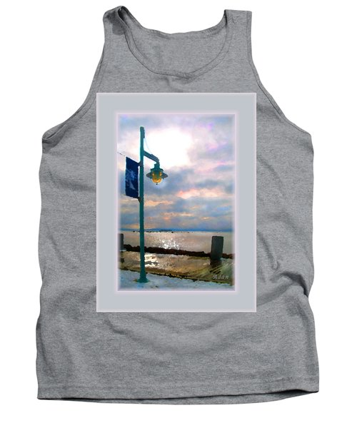 Tank Top featuring the photograph Snow Waterfront Park Walk by Felipe Adan Lerma