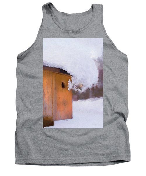 Tank Top featuring the photograph Snowdrift On The Bluebird House by Gary Slawsky