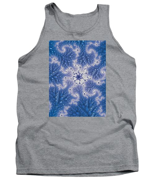 Tank Top featuring the photograph Snowflake Embroidered by Ronda Broatch