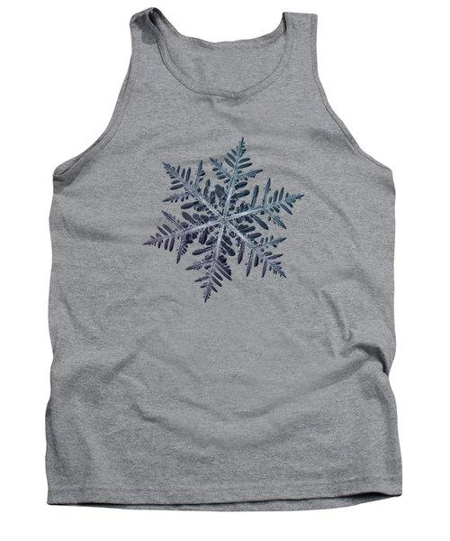 Snowflake Photo - Neon Tank Top
