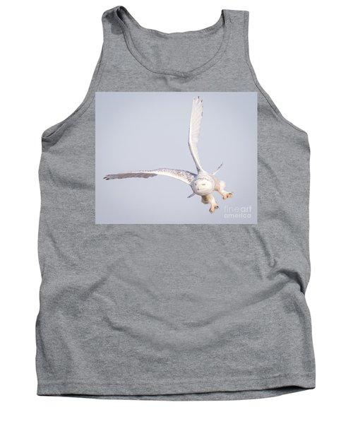 Snowy Owl Flying Dirty Tank Top