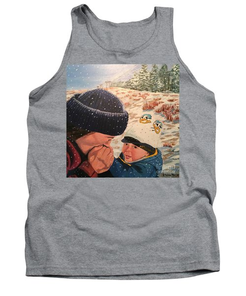 Snowy Day With My Dad Tank Top