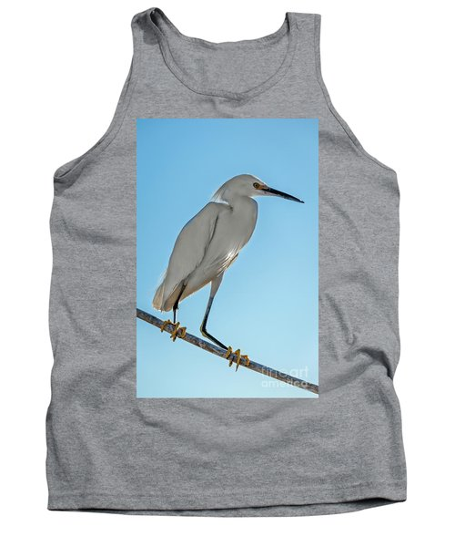 Tank Top featuring the photograph Snowy Egret by Robert Bales