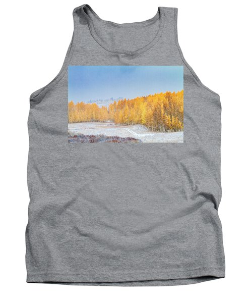 Snowy Fall Morning In Colorado Mountains Tank Top
