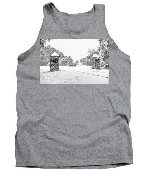 Snowy Gates Of Chisolm Island Tank Top