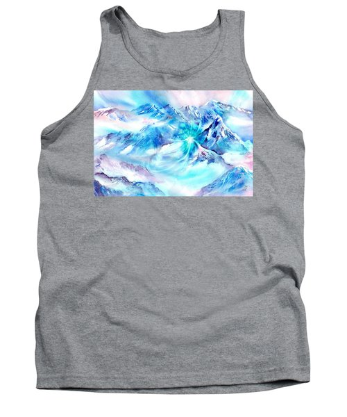 Snowy Mountains Early Morning Tank Top
