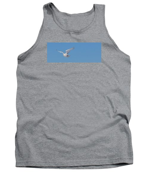Tank Top featuring the photograph Snowy Owl - Dive by Dan Traun