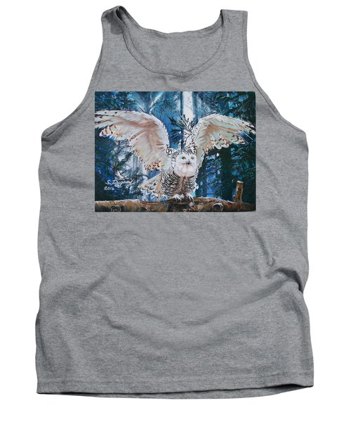 Snowy Owl On Takeoff  Tank Top