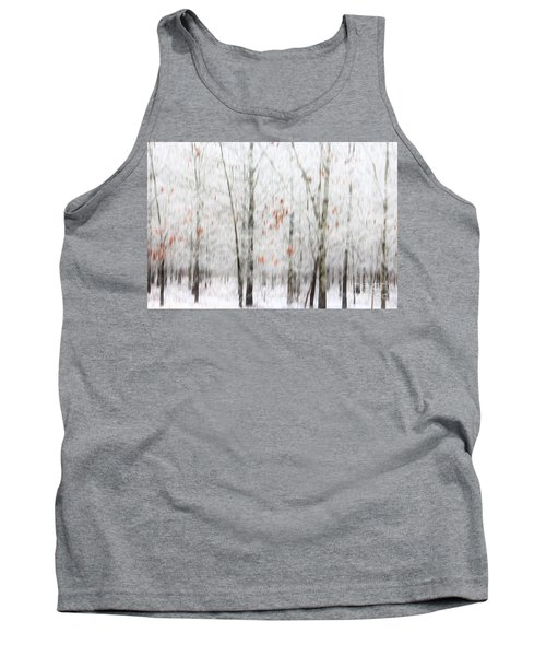 Tank Top featuring the photograph Snowy Trees Abstract by Benanne Stiens