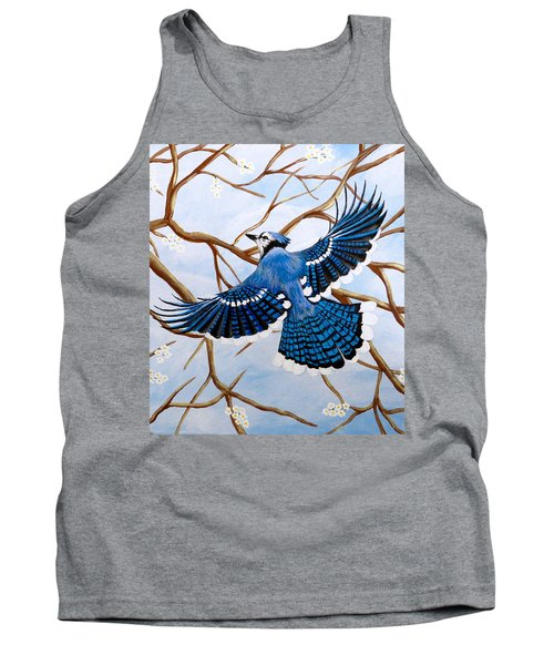 Soaring Blue Jay  Tank Top
