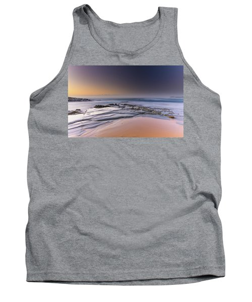 Soft And Rocky Sunrise Seascape Tank Top