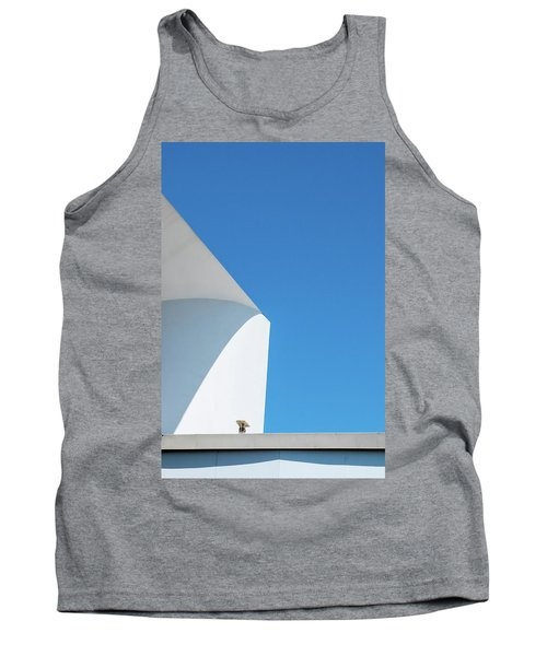 Tank Top featuring the photograph Soft Blue by Eric Lake