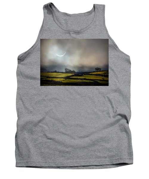 Solar Eclipse Over County Clare Countryside Tank Top