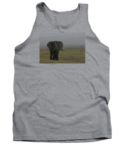 Tank Top featuring the photograph Solitary Bull Elephant by Gary Hall