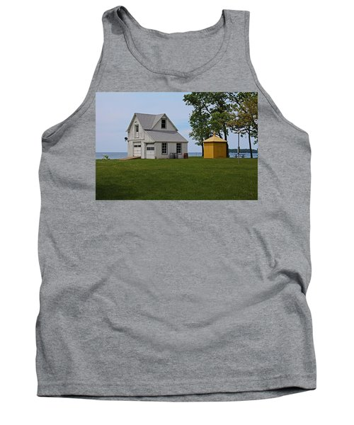 South Bass Island Lighthouse Barn And Oil Storage Building I Tank Top by Michiale Schneider