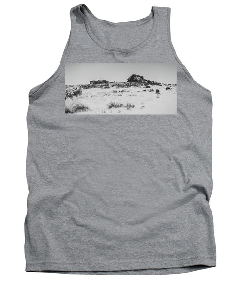 South Hessary Tor In The Snow Tank Top
