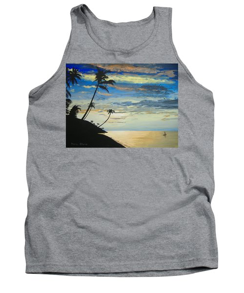 Tank Top featuring the painting South Sea Sunset by Norm Starks