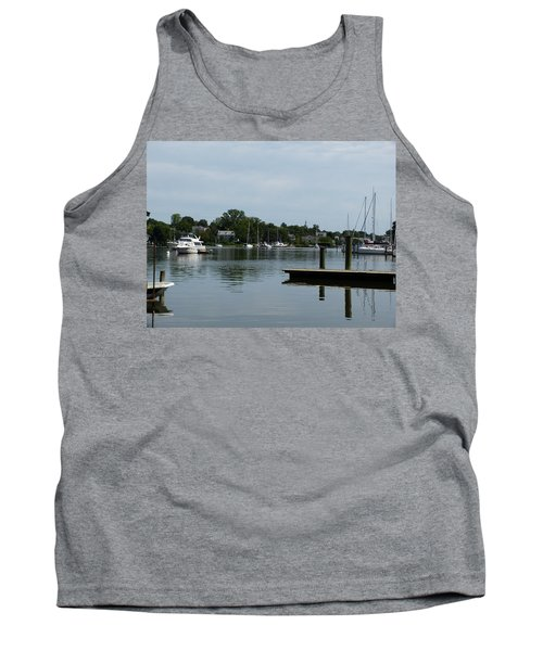 Spa Creek From The Park  Tank Top by Donald C Morgan