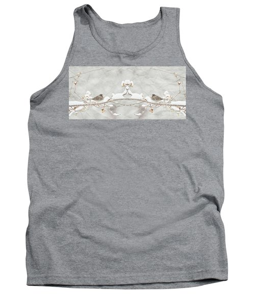 Tank Top featuring the photograph Sparrow In The Cherry Tree by Lila Fisher-Wenzel