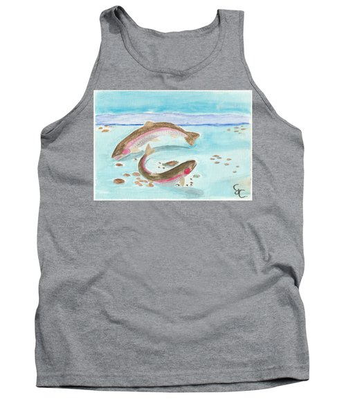 Spawning Rainbows Tank Top by Gareth Coombs
