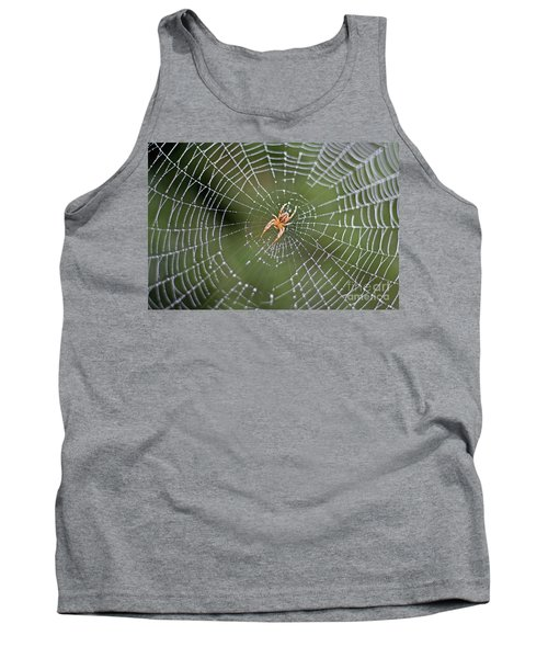 Spider In A Dew Covered Web Tank Top