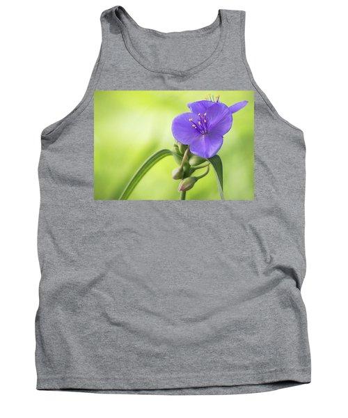 Spiderwort Wildflower - Horizontal Tank Top