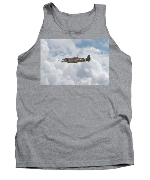 Tank Top featuring the digital art   Spifire - Us Eagle Squadron by Pat Speirs