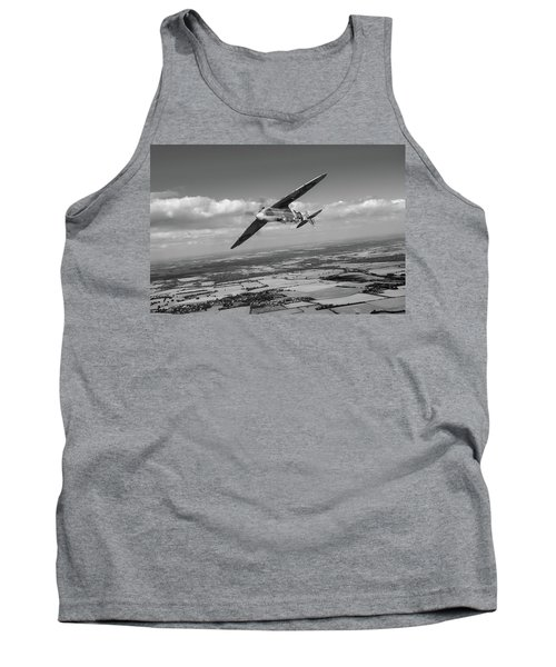 Tank Top featuring the photograph Spitfire Tr 9 On A Roll Bw Version by Gary Eason